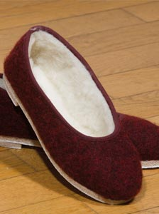 Ballerines mohair - Missègle: vente de charentaises Made in France