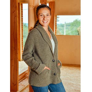 Veste laine Yack Mohair et Soie - Missegle, made in France