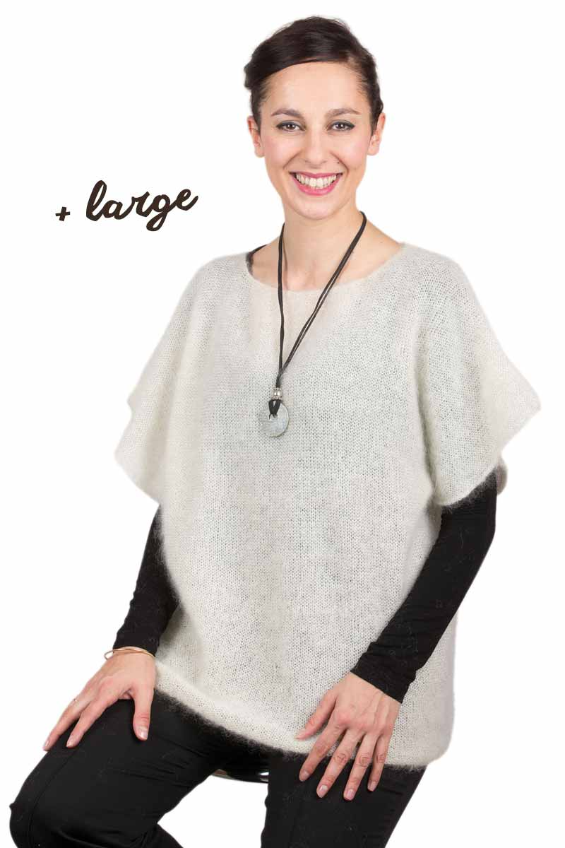 Pull mohair manches courtes T.44-52 - Missègle: fabricant de pull en laine Made in France