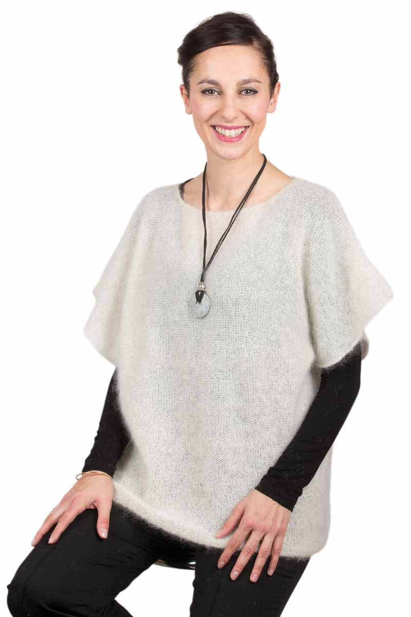 Pull mohair manches courtes T.34-42 - Missègle: fabricant de pull en mohair Made in France