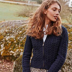 Blouson laine zippé court
