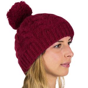Bonnet laine alpaga à pompon bonnes affaires