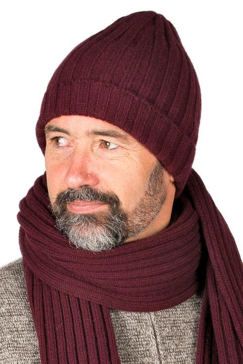 Bonnet laine mérinos homme