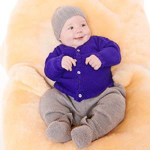 Cardigan laine bébé