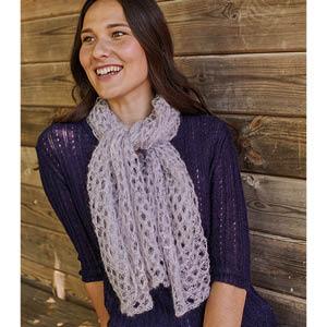 Carré foulard laine mohair et soie