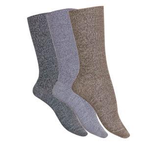Chaussettes sans élastique Laine Mérinos chinées
