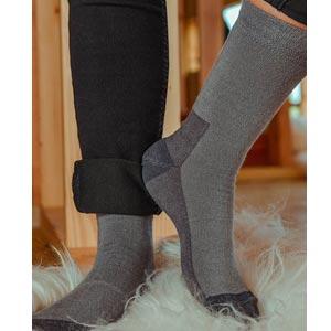 Chaussettes chaudes Mérinos et soie ultra-solides