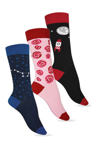 Chaussettes coton fantaisies extra-fines