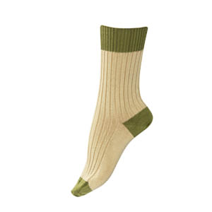 Chaussettes fil d'écosse coton Bicolores Santé Bonnes affaires