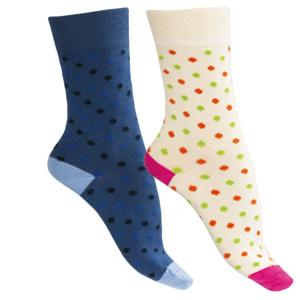 Chaussettes sans couture coton bio à pois