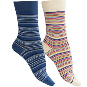 Chaussettes sans couture coton bio Rayées
