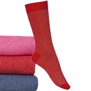 Chaussettes coton fantaisies scintillantes