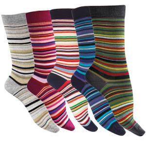 Chaussettes fil d'écosse bio à rayures