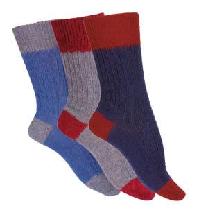 Chaussettes laine Mohair bicolores