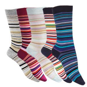 Chaussettes sans couture fil d'écosse biologique à rayures