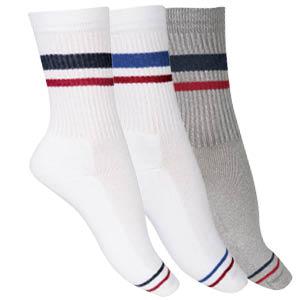 Chaussettes sans couture coton tennis rétro