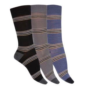 Chaussettes sans couture laine mérinos bicolores