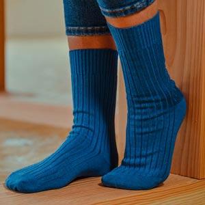 Chaussettes sans élastique fil d'écosse bio