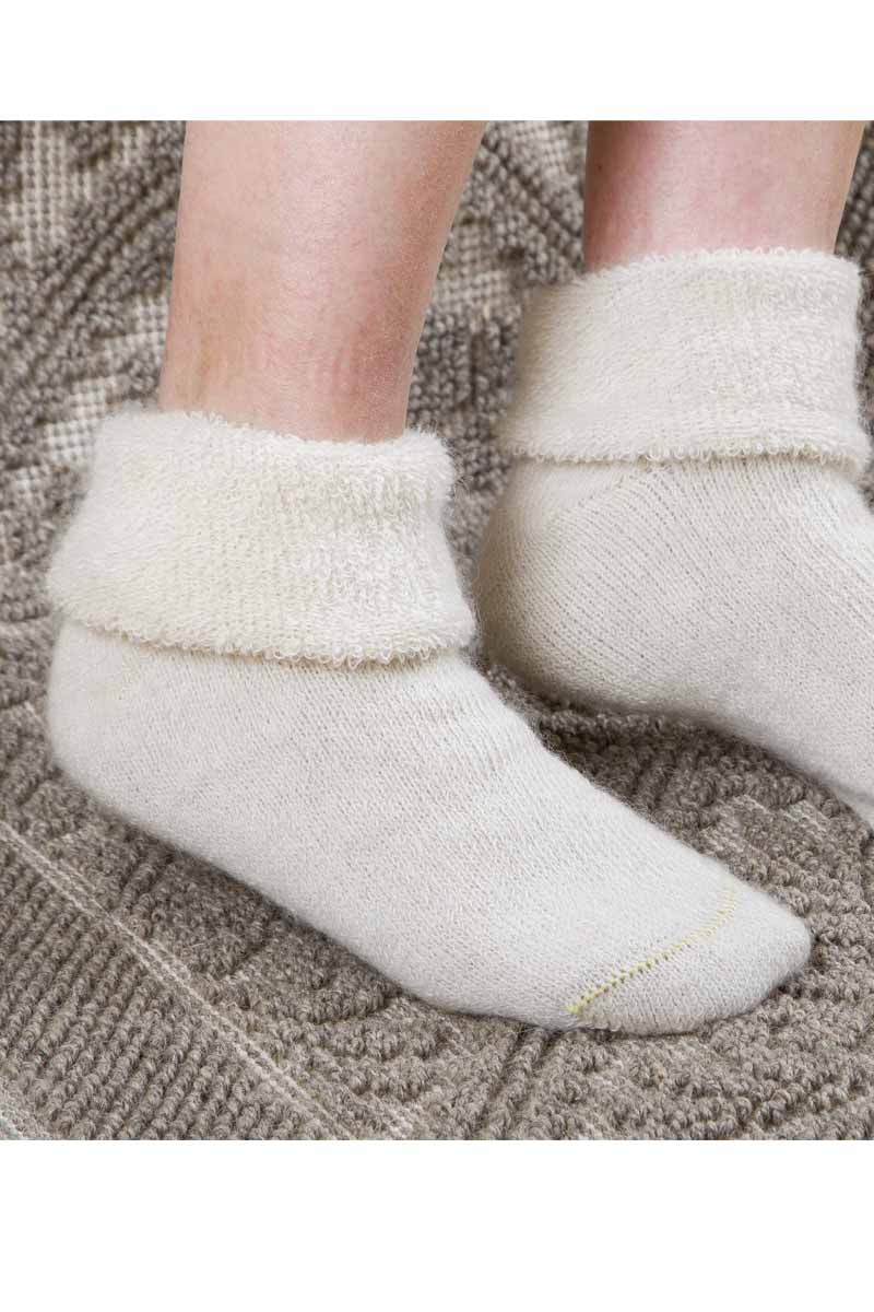 Chaussons chauds mohair