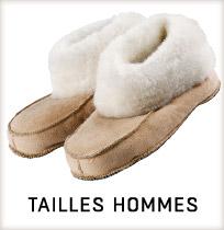 Chaussons peau d'agneau pour hommes