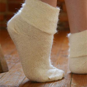 Chaussons Laine mohair