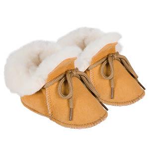 Chaussons peau d'agneau pour bébés