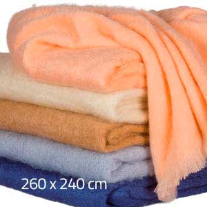 Couverture mohair Grand lit 2 places - Missègle: vente de couverture mohair Made in France