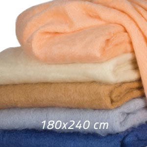 Couverture mohair lit 1 place - Missègle: vente de couverture mohair Made in France
