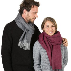 Grande écharpe laine alpaga