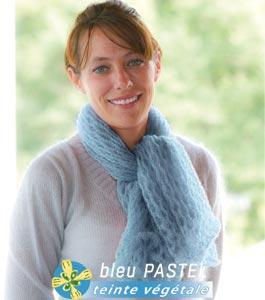 Carré foulard laine mohair et soie Pastel
