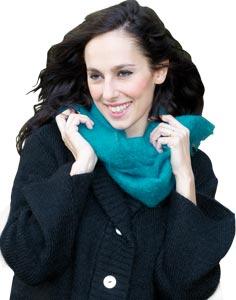 Grande echarpe laine mohair et soie unie