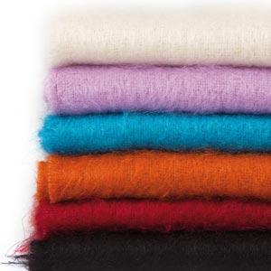 Echarpe laine mohair et soie Homme unie