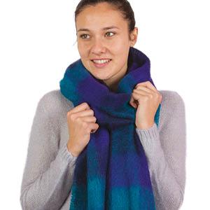 Petite echarpe laine mohair unie Bonnes affaires