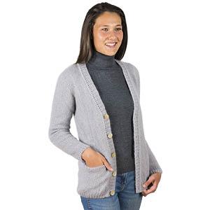 Gilet laine mohair à poches Bonnes affaires