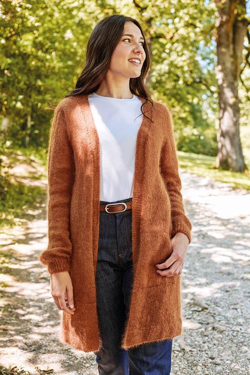Gilet laine femme