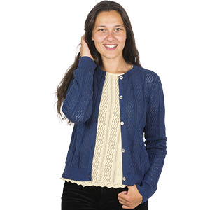 Cardigan dentelle seacell - Missegle, cardigan made in France