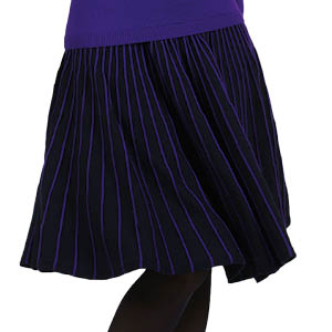 Jupe mérinos Nuit-Violet