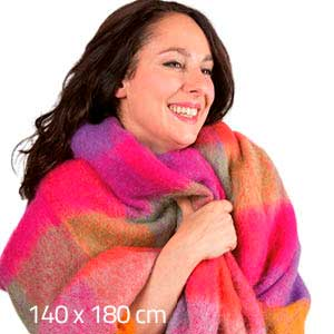 Grand Plaid mohair écossais acidulé - Missègle: vente de plaid en mohair