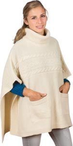 Poncho laine alpaga