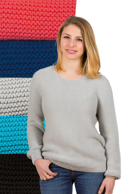 Pull coton point mousse Bonnes affaires