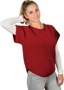 Pull laine alpaga manches courtes bonnes affaires