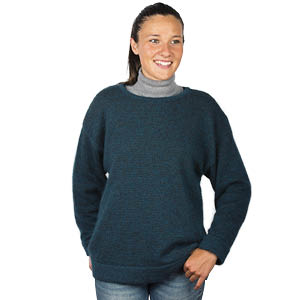 Pull en laine large col rond Bonnes affaires