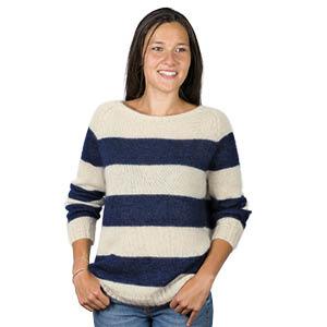 Pull en laine mohair marinière