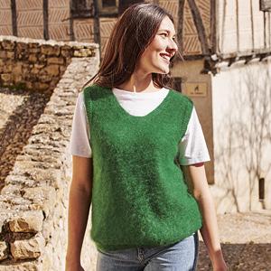 Pull laine sans manche