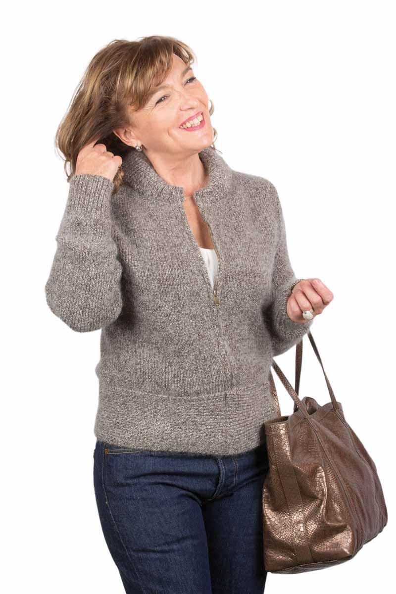 Gilet veste zippee femme