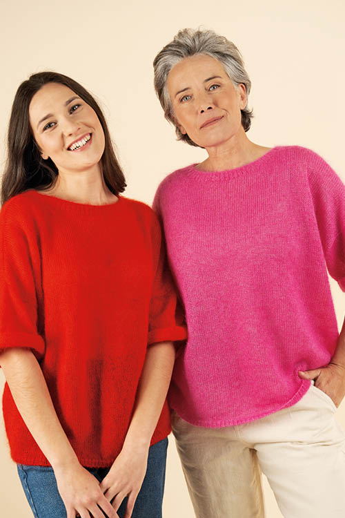 Pull laine manches courtes