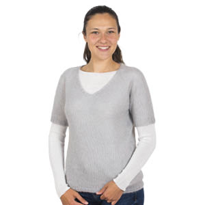 Pull mohair manches courtes - Missegle, pull en laine made in France