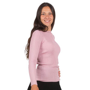 Pull 100% Soie manches longues