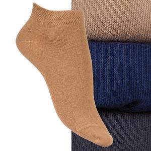 Socquettes coton peigné unies Bonnes affaires