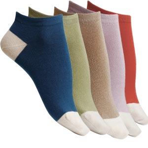 Socquettes coton peigné bicolores Bonnes affaires